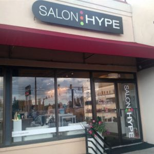 salon hype hair salon store front